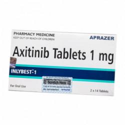 Фото препарата Инлибест Акситиниб (Inlybest 1) :: Инлита аналог 1мг таблетки №28